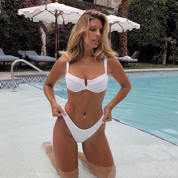 uk store buying cheap the sale of shoes Swim | Carsen Ribbed Underwire Bikini Set White | Poshmark